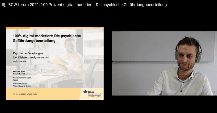 Psychische Gefährdungsbeurteilung digital – VisionGesund im BGW forum