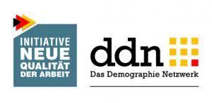 Logo des Demographie-Netzwerks. Initiative Neue Qualität der Arbeit