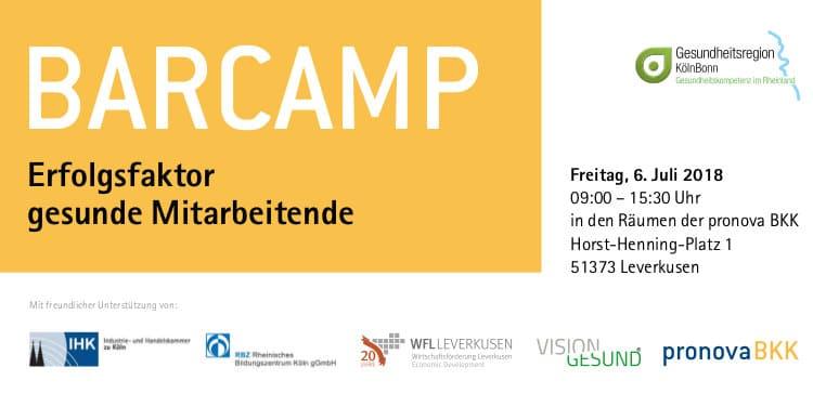 Erfolgsfaktor gesunde Mitarbeitende – Das erste interaktive Barcamp für die Gesundheit
